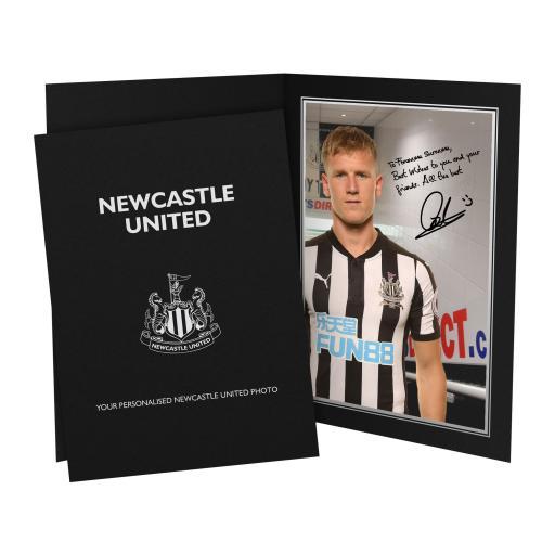 Newcastle United FC Ritchie Autograph Photo Folder