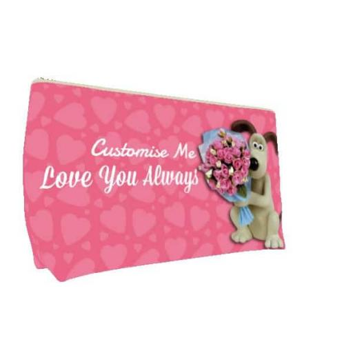 "Aardman Wallace And Gromit ""Be My Valentine"" Medium Wash Bag"