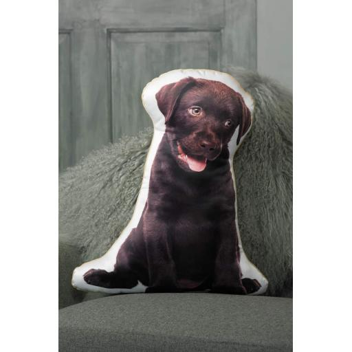 Chocolate Labrador Shaped Cushion Perfect Gift For Dog Lovers