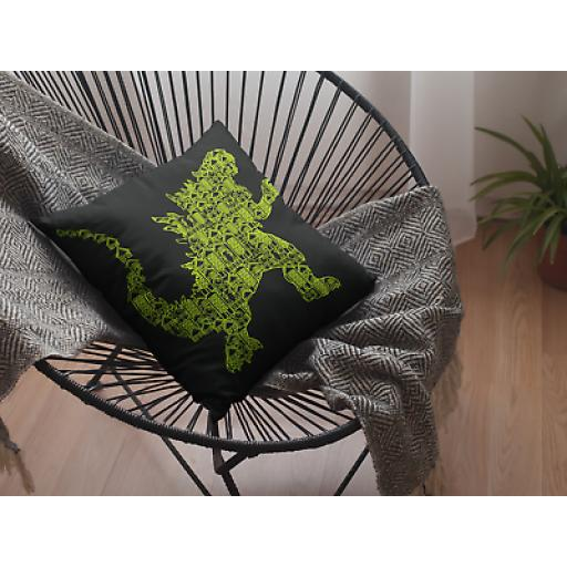 Kaiju 2 Themed Cushion Cover - Decorative Linen Japanese Godzilla Movie Fan Gift