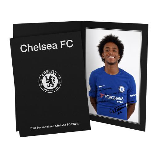 Chelsea FC Willian Autograph Photo Folder