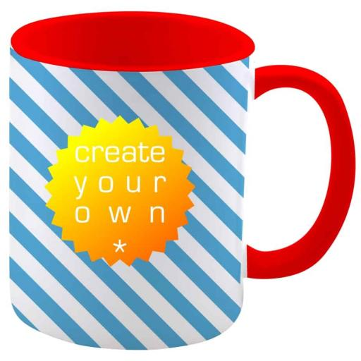 Create Your OwnMug - Two Tone Red - Ceramic - 11oz