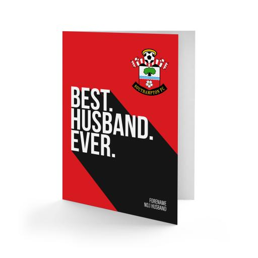 Southampton FC Best Husband Ever Card