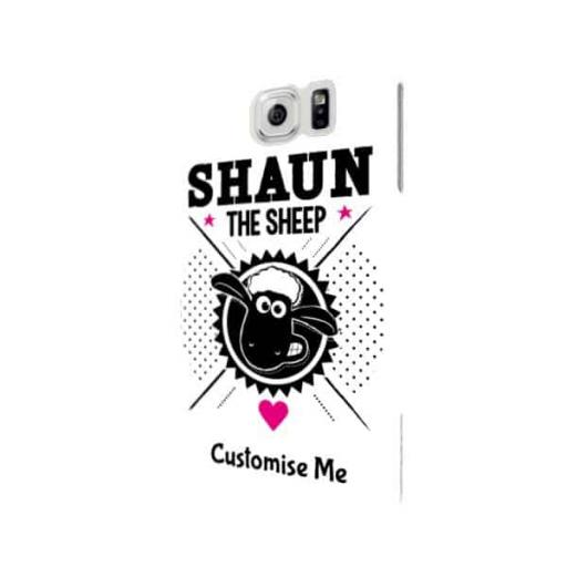 Shaun The Sheep Black & White Samsung Galaxy S6 Clip Case