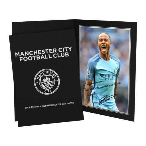Manchester City FC Sterling Autograph Photo Folder
