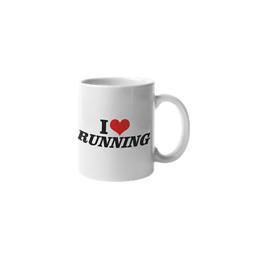 I Love Running 11 oz Mug Ceramic Novelty Fun Runners Athletes Gift
