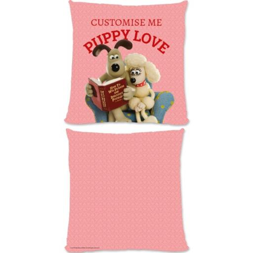 Wallace And Gromit Puppy Love Large Fiber Cushion