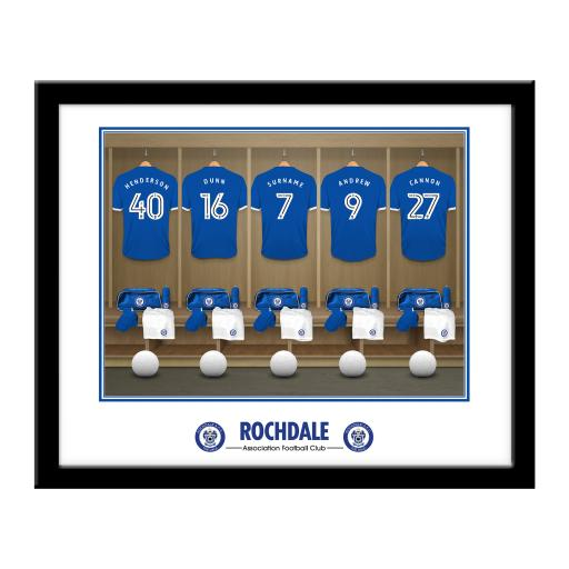 Rochdale AFC Dressing Room Framed Print
