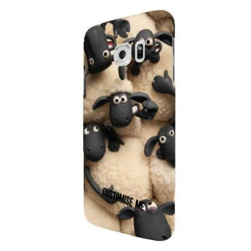Shaun The Sheep Flock Print Samsung Galaxy S7 Edge Clip Case