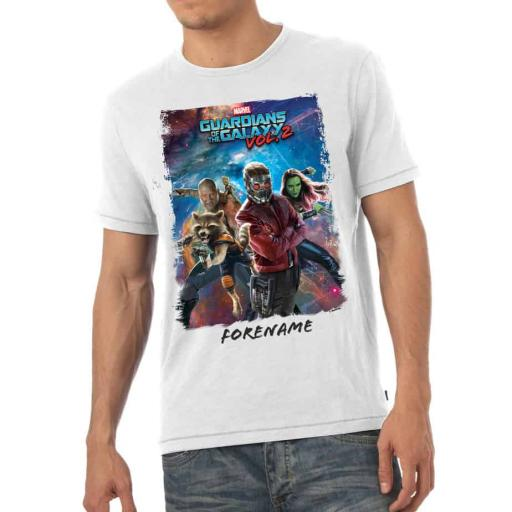 Marvel Guardians of the Galaxy Group Mens T-Shirt