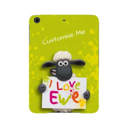 Aardman Shaun The Sheep Valentines Print iPad Mini 2/3 Clip Case