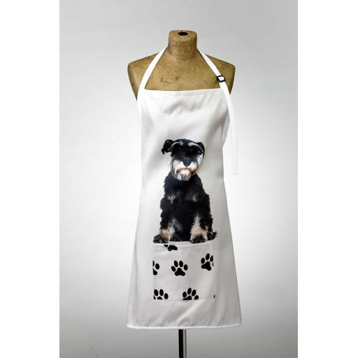 Schnauzer Image Apron Poly-Cotton Machine Washable