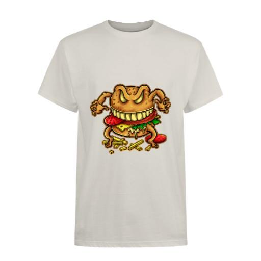 The Curse Of The Burger Cartoon Design BC Exact 150 T-Shirt