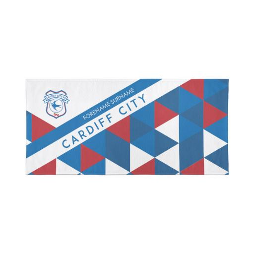 Cardiff City FC Patterned Travel Towel