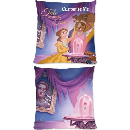 Disney Beauty And The Beast Picture Scene Large Fiber Cushion