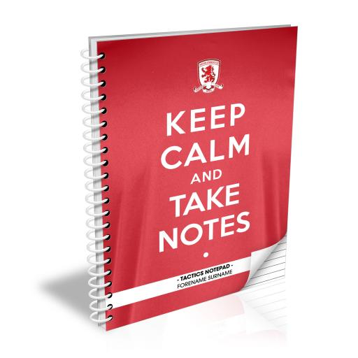 Middlesbrough FC Keep Calm Notebook