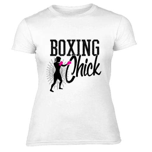 Womens Boxing Chick Womens T-Shirt