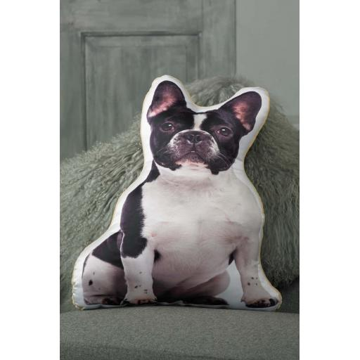 Black White French Bulldog Shaped Cushion Perfect Gift For Dog Lovers