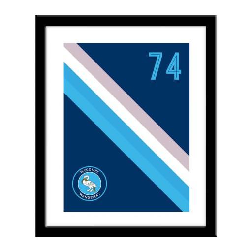 Wycombe Wanderers Stripe Print