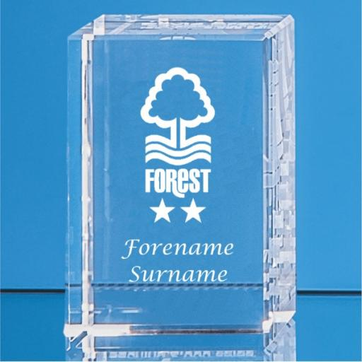 Nottingham Forest FC Crystal Rectangle