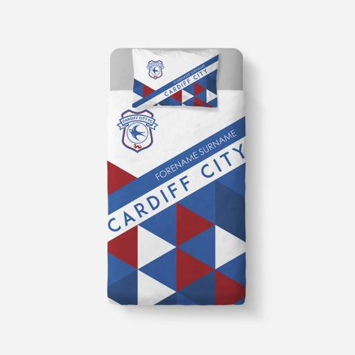 Cardiff City FC Patterned Duvet Cover & Pillowcase