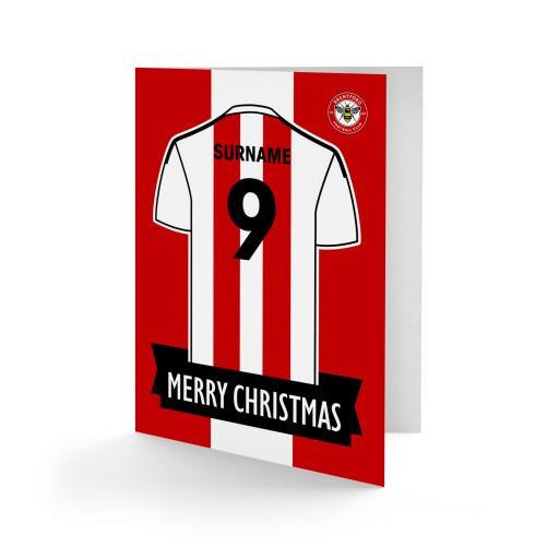 Brentford FC Shirt Christmas Card