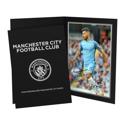 Manchester City FC Aguero Autograph Photo Folder