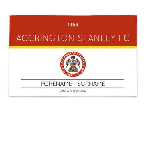 Accrington Stanley Minimal Ticket 8ft x 5ft Banner