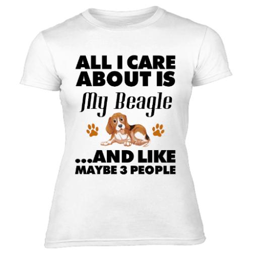 All I Care About My Beagle Womens T Shirt