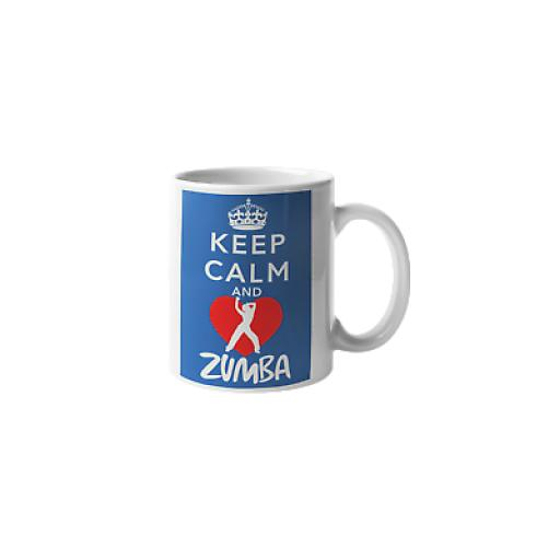 Keep Calm and Zumba 11 oz Mug Ceramic Novelty Design Best Gift for Zumba Lover