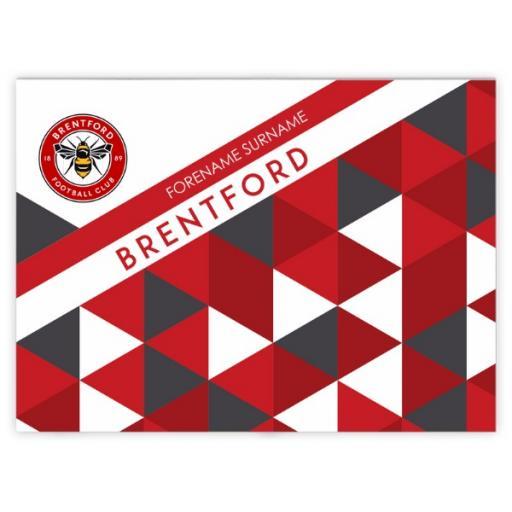 Brentford FC Patterned Blanket (150cm x 110cm)