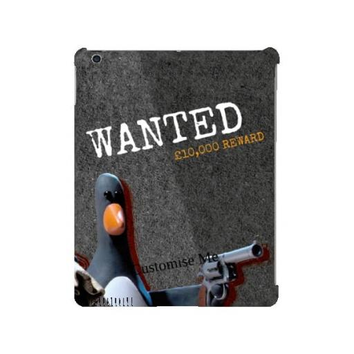Aardman Wallace And Gromit Feathers WANTED iPad 2/3/4 Clip Case