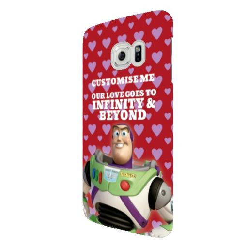 "Disney Toy Story Buzz Valentines ""Infinity & Beyond"" Samsung Galaxy S6 Edge Clip Case"