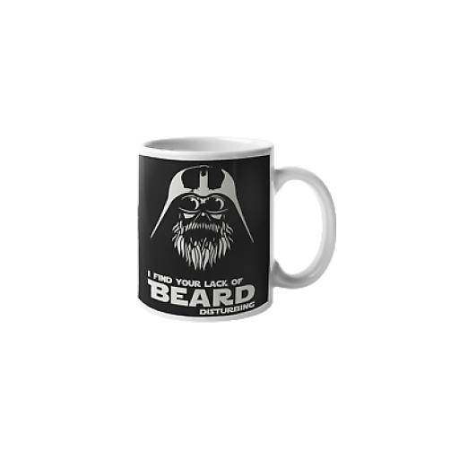 I Find Your Lack Of Beard Disturbing 11 oz Mug Ceramic Novelty Beard Fan Gift