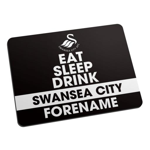 Swansea City AFC Eat Sleep Drink Mouse Mat
