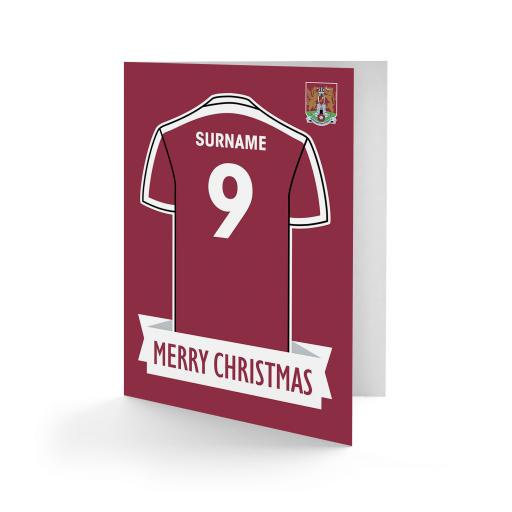 Northampton Town FC Shirt Christmas Card