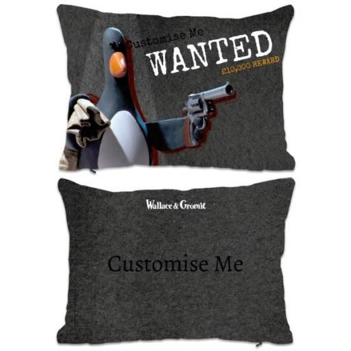 Aardman Wallace and Gromit Feathers WANTED Print Extra Large Cushion
