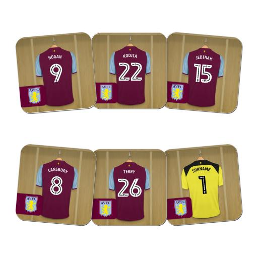 Aston Villa FC Goalkeeper Dressing Room Coasters