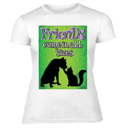 Friends Come In All Sizes Womens T Shirt