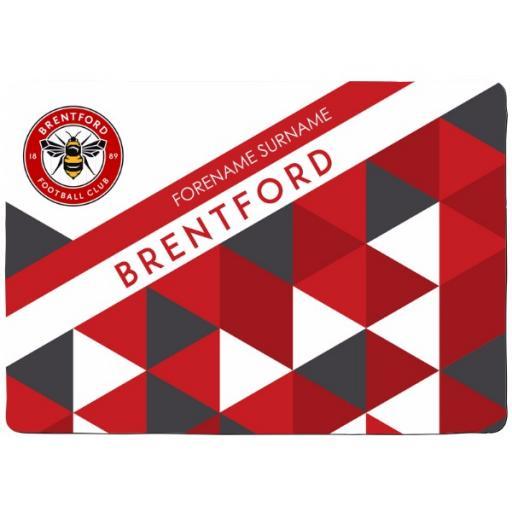 Brentford FC Patterned Floor Mat