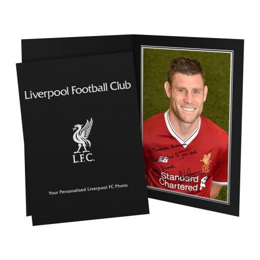 Liverpool FC Milner Autograph Photo Folder