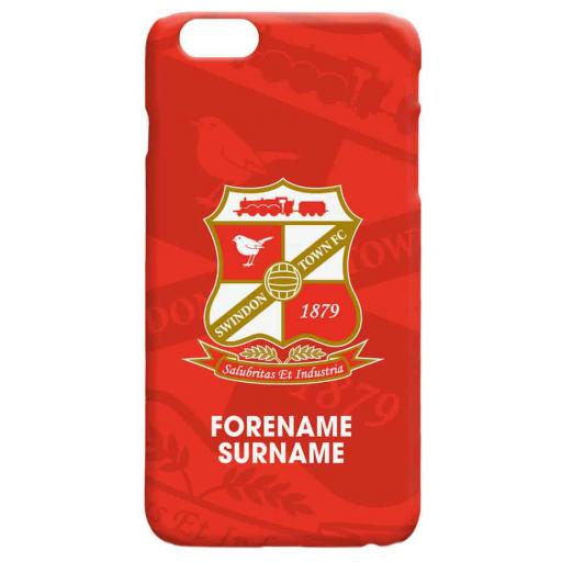 Swindon Town Bold Crest Hard Back Phone Case