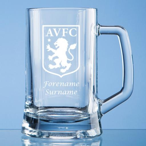 Aston Villa FC Crest Small Plain Straight Sided Tankard