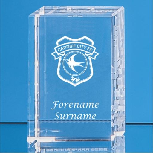 Cardiff City FC Crystal Rectangle