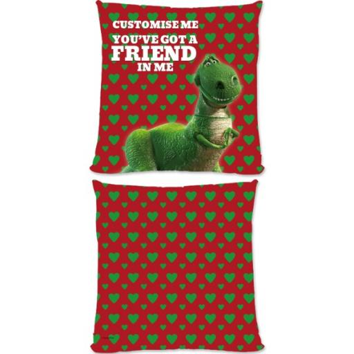 "Disney Toy Story Rex Valentines ""You Gotta Friend In Me"" Large Fiber Cushion"
