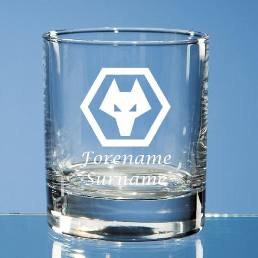 Wolves Crest Bar Line Old Fashioned Whisky Tumbler