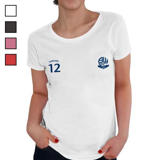 Bolton Wanderers FC Ladies Sports T-Shirt