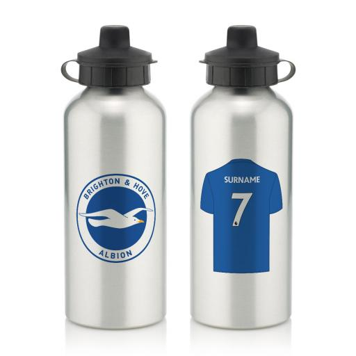 Brighton & Hove Albion FC Aluminium Water Bottle
