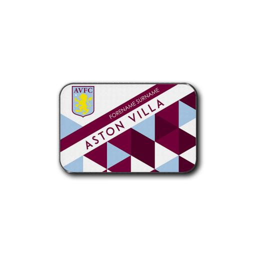 Aston Villa FC Patterned Rear Car Mat
