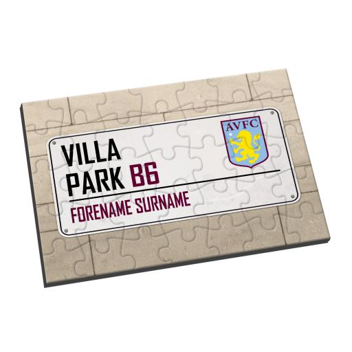 Aston Villa FC Street Sign Jigsaw